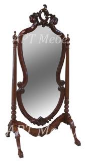 Зеркало резное CHEVAL из красного дерева