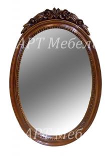Резное зеркало FLOWER TOP из массива