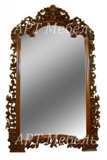 Зеркало резное XL из массива красного дерева